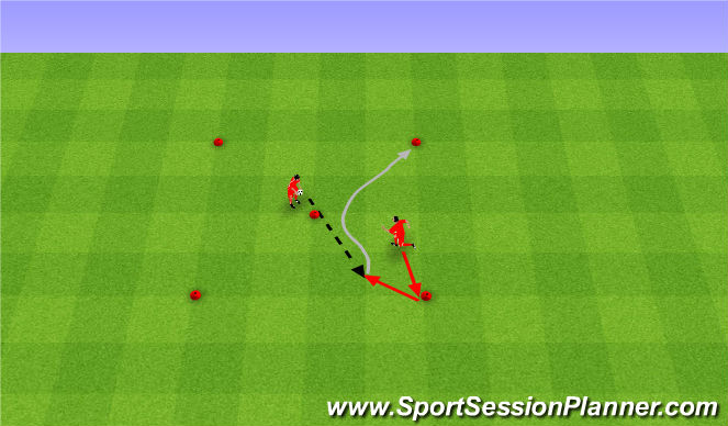 Football/Soccer Session Plan Drill (Colour): Control sole. Przyjęcia podeszwą.