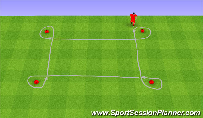 Football/Soccer Session Plan Drill (Colour): Outside turns.