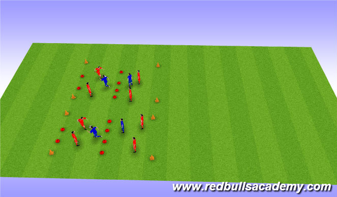 Football/Soccer Session Plan Drill (Colour): 4 v 2 in grids