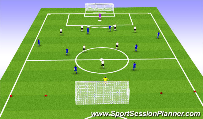 Football/Soccer Session Plan Drill (Colour): SSG - set up