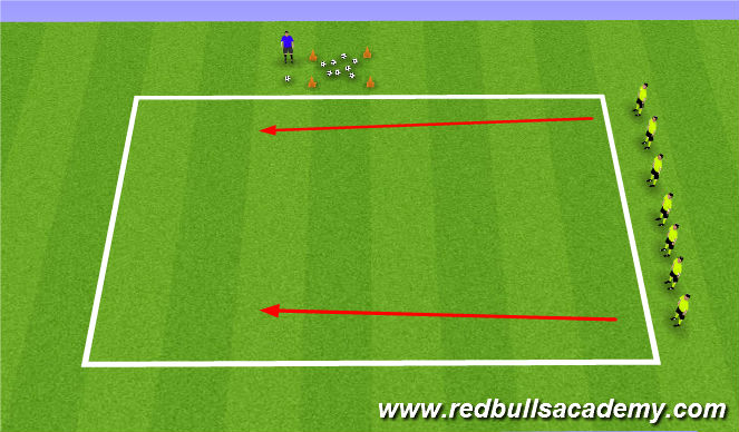 Football/Soccer Session Plan Drill (Colour): Pinball Wizard