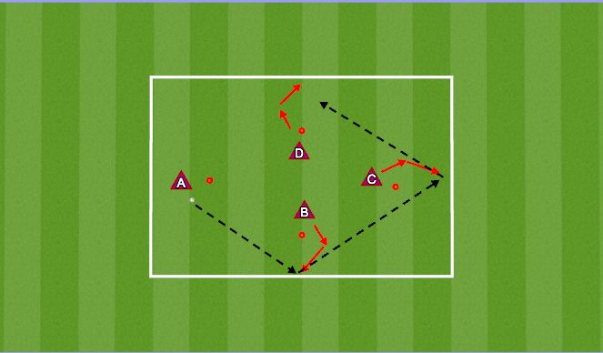 Football/Soccer Session Plan Drill (Colour): Warm-up - (pass & control)