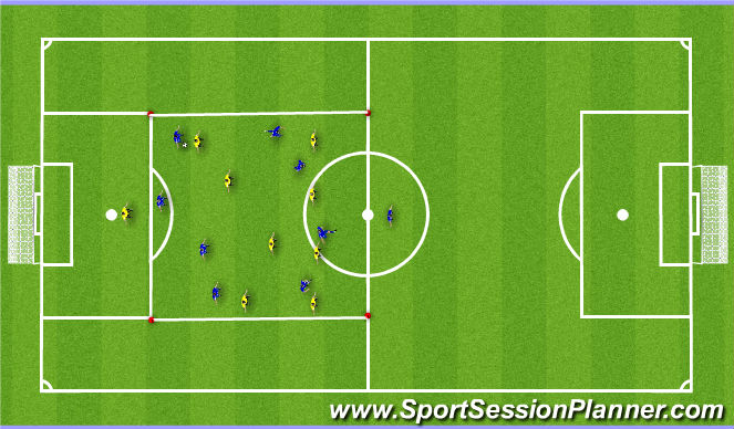 Football/Soccer Session Plan Drill (Colour): Small Sided `
