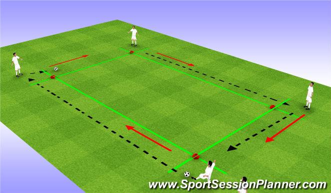 Football/Soccer Session Plan Drill (Colour): break line