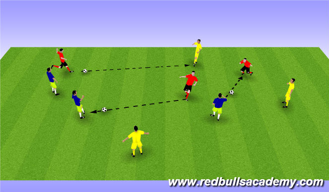 Football/Soccer Session Plan Drill (Colour): Control Warm Up