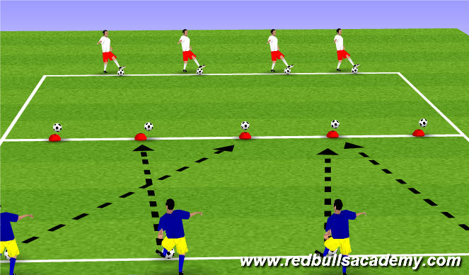 Football/Soccer Session Plan Drill (Colour): Passing Accuracy