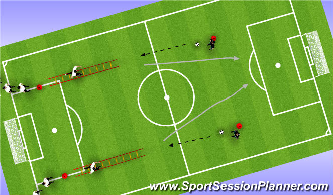 Football/Soccer Session Plan Drill (Colour): SAQ (Speed, Agility & Quickness)