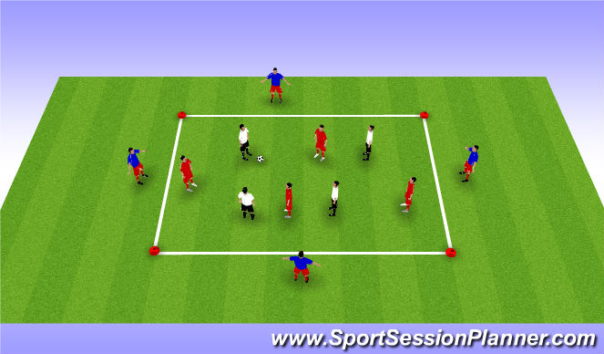 Football/Soccer Session Plan Drill (Colour): 8 v 4 Possession