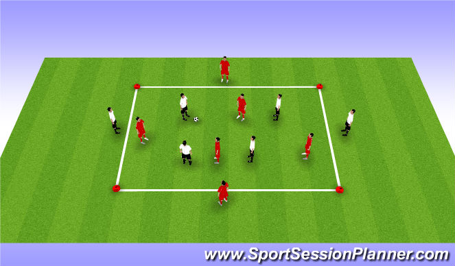Football/Soccer Session Plan Drill (Colour): 8 v 4 Game