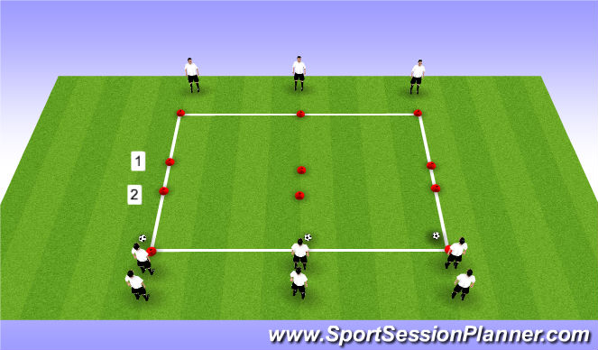 Football/Soccer Session Plan Drill (Colour): Runnin the the Ball