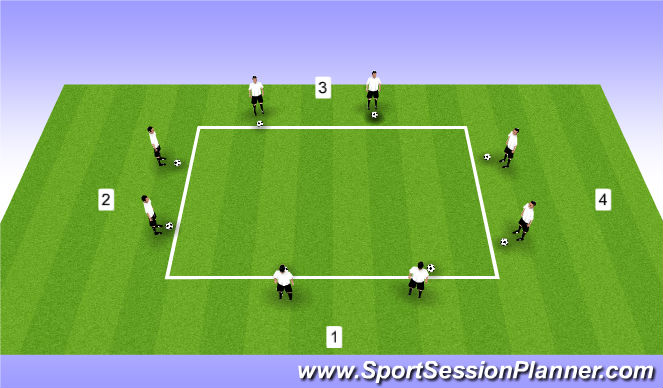 Football/Soccer Session Plan Drill (Colour): Numbers Cross
