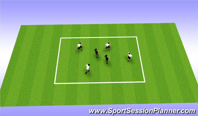 Football/Soccer Session Plan Drill (Colour): Foam Goal