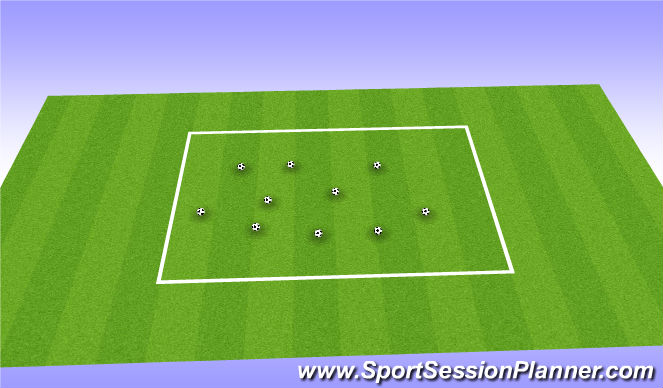 Football/Soccer Session Plan Drill (Colour): Mine Field