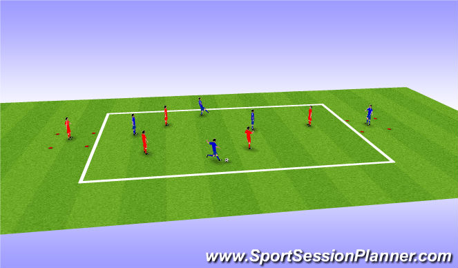Football/Soccer Session Plan Drill (Colour): Arial Control