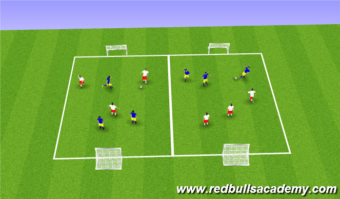 Football/Soccer Session Plan Drill (Colour): 3 v 3 Tournament