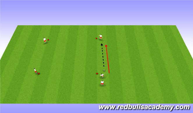 Football/Soccer Session Plan Drill (Colour): Warm up: Passing and Receiving
