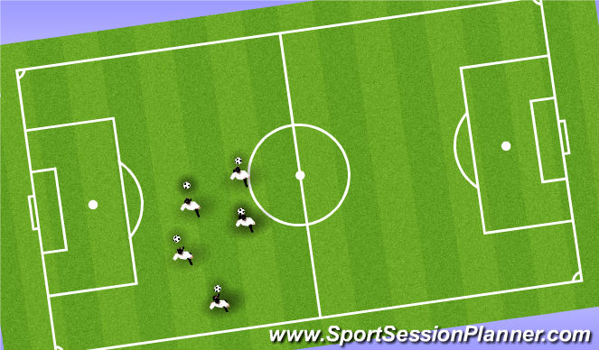 Football/Soccer Session Plan Drill (Colour): Here, There, Nowhere