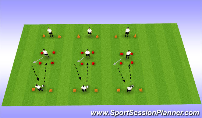 Football/Soccer Session Plan Drill (Colour): Angled Control