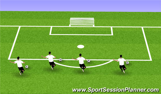 Football/Soccer Session Plan Drill (Colour): Striking Technique