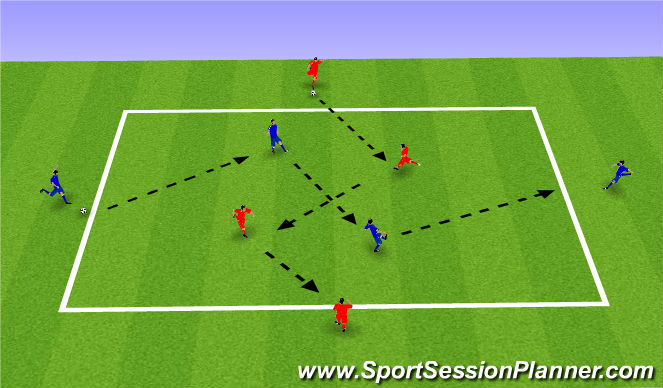 Football/Soccer Session Plan Drill (Colour): Possession Warm-up