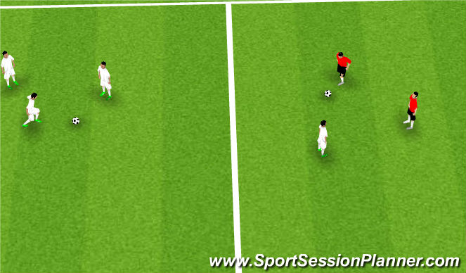 Football/Soccer Session Plan Drill (Colour): compete