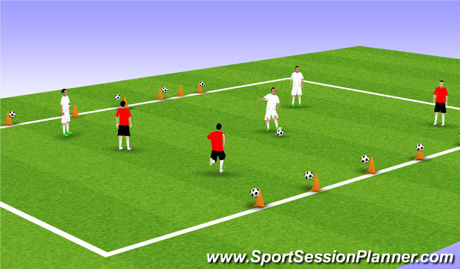 Football/Soccer Session Plan Drill (Colour): coconut shy