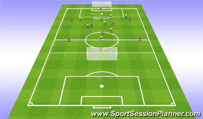 Football/Soccer Session Plan Drill (Colour): Stage 4