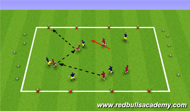 Football/Soccer Session Plan Drill (Colour): Conditioned game 1: Coconut Shy warm up