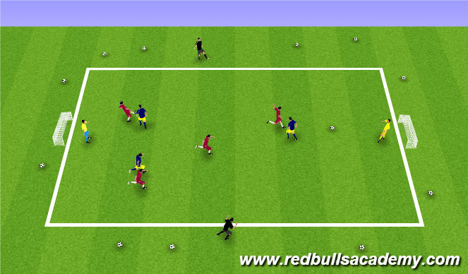Football/Soccer Session Plan Drill (Colour): Conditioned Game 2: 5v5+2