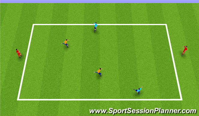Football/Soccer Session Plan Drill (Colour): 2v2+2