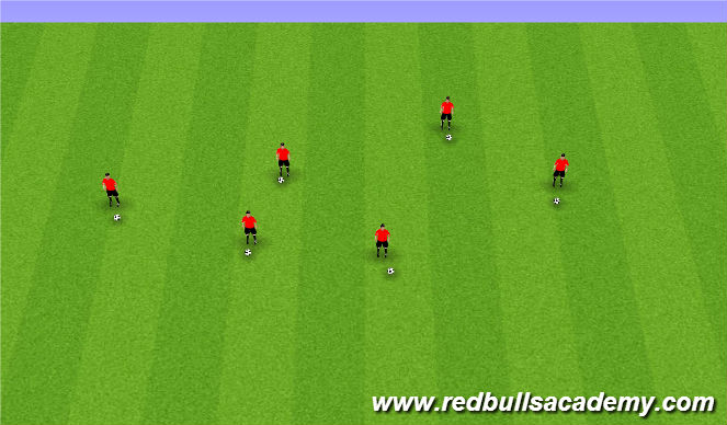Football/Soccer Session Plan Drill (Colour): Ball Mastery/Prior to Session