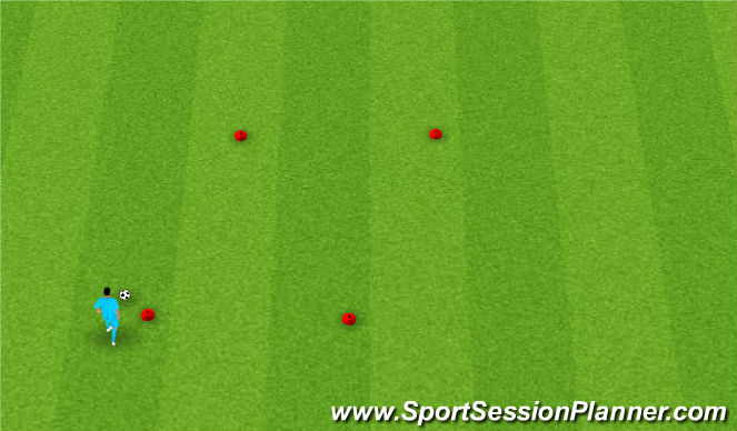 Football/Soccer Session Plan Drill (Colour): Turning Slalom