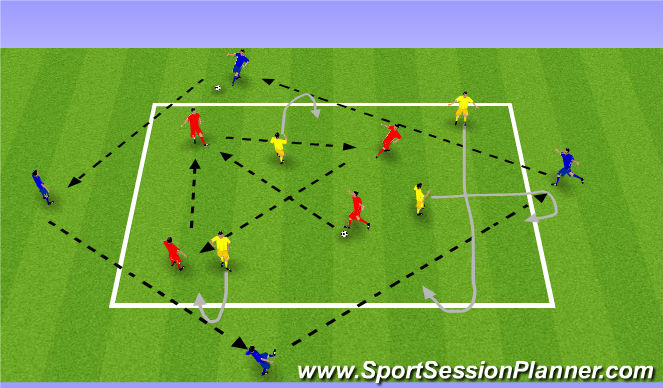 Football/Soccer Session Plan Drill (Colour): Warn-up