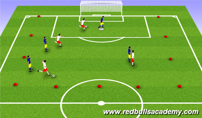 Football/Soccer Session Plan Drill (Colour): WarmUp-Technical Passing and Movements