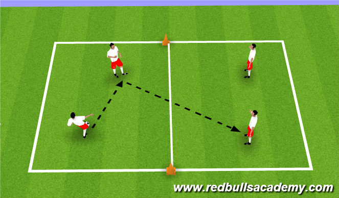 Football/Soccer Session Plan Drill (Colour): 2v2 warm up