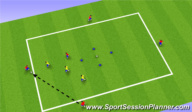 Football/Soccer Session Plan Drill (Colour): Part II: Defending as a Unit