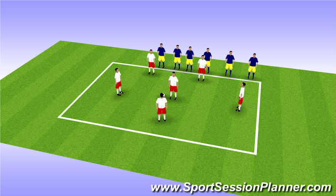 Football/Soccer Session Plan Drill (Colour): Defensive Overload