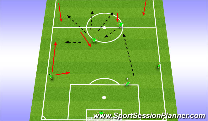 Football/Soccer Session Plan Drill (Colour): Alternative