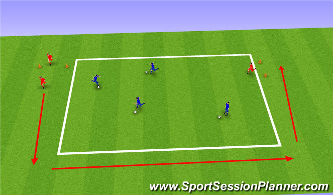 Football/Soccer Session Plan Drill (Colour): Individual keep ball