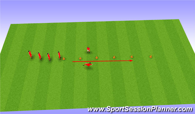 Football/Soccer Session Plan Drill (Colour): Passing warm up
