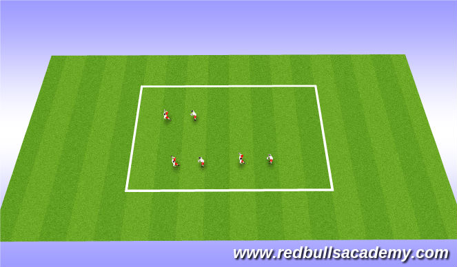Football/Soccer Session Plan Drill (Colour): Juggling activity