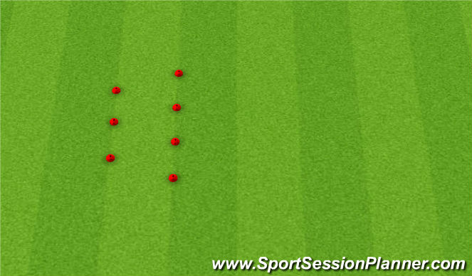Football/Soccer Session Plan Drill (Colour): Warm Up Footwork