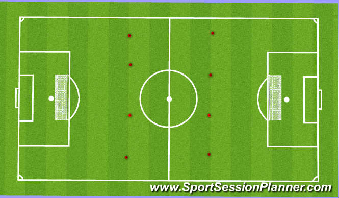 Football/Soccer Session Plan Drill (Colour): Breaking the offside line
