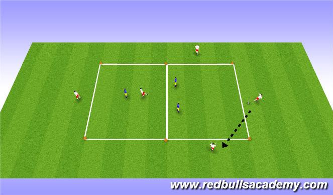 Football/Soccer Session Plan Drill (Colour): Possession game - 5 vs 3
