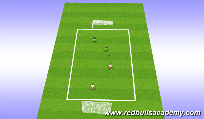 Football/Soccer Session Plan Drill (Colour): Act 1