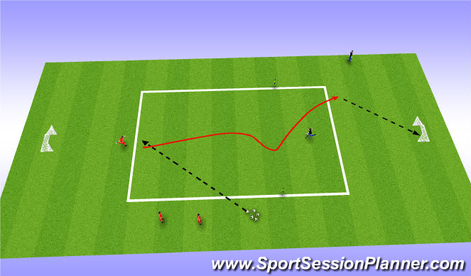 Football/Soccer Session Plan Drill (Colour): Final games