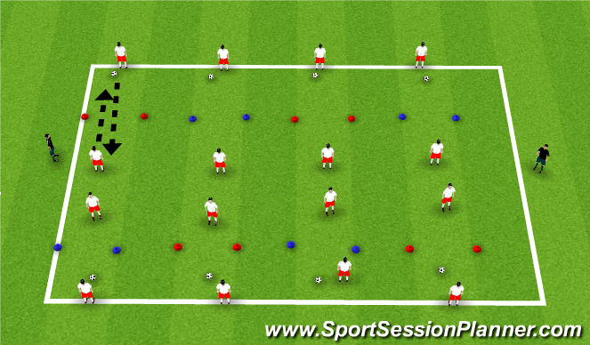 Football/Soccer Session Plan Drill (Colour): Passing and receiving