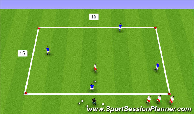 Football/Soccer Session Plan Drill (Colour): possession 1