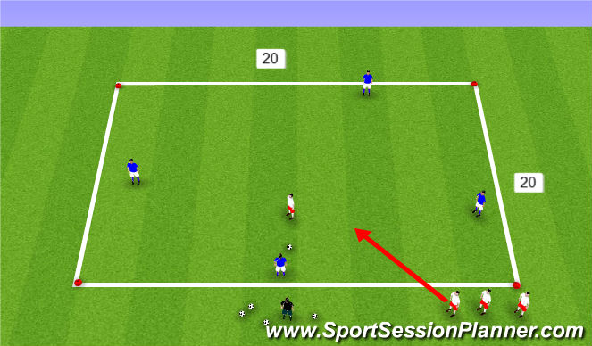 Football/Soccer Session Plan Drill (Colour): possession 1 Progresion