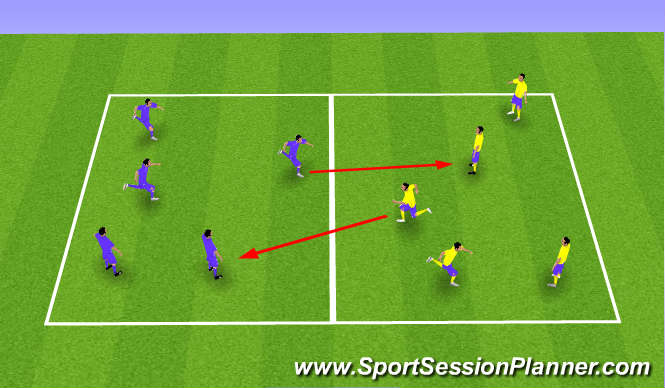 Football/Soccer Session Plan Drill (Colour): Tag Warm Up